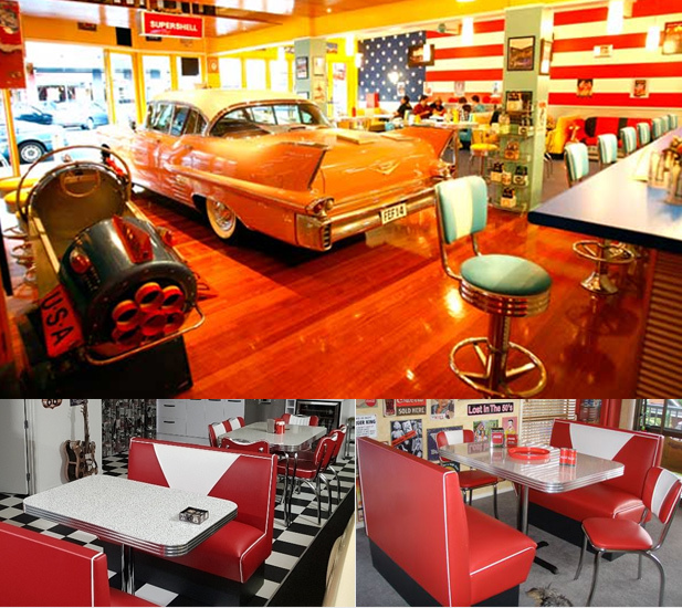 50s American Diner Style